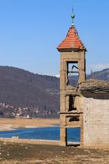 Submerged Church of Mavrovo Lake, Macedonia