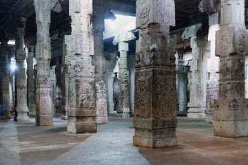 Inside of Ekambareswarar shiva temple, India