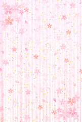 桜 年賀状 背景