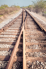 rail tracks junction