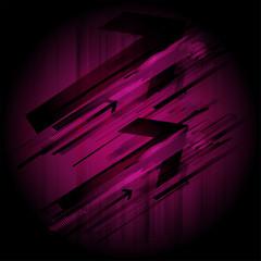 Abstract dark purple arrow background