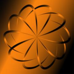 Orange abstract swirl background