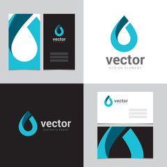 Logo design element with two business cards - 16