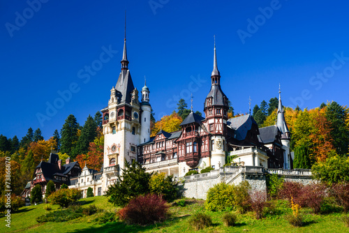Foto op Aluminium Kasteel Peles Castle, Romania