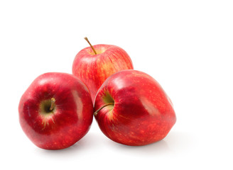 Group of red Washington apple clipping path.