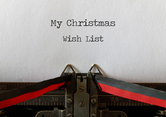My Christmas Wish List, old style