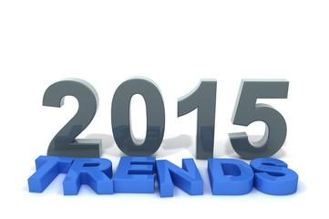 Schriftzug Trends 2015 blau blaugrau