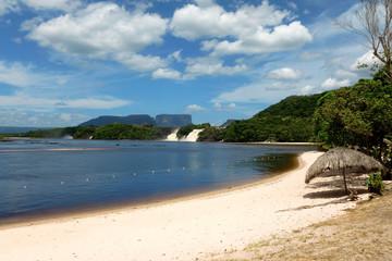 Lagoon of the Canaima national park. Venezuela, South America