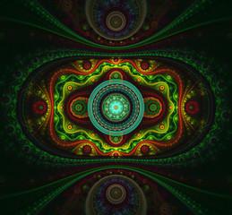 Futuristic fractal patterns