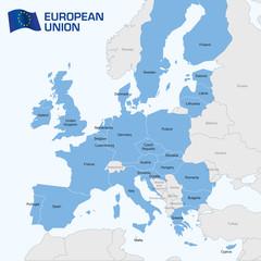 Europe - Map of the European Union