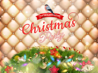 Christmas party poster. EPS 10