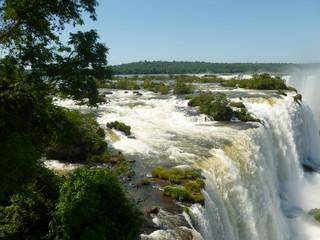 Brazilian side of the famous Iguazu falls. South America.