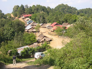 Northern Laos Mountainous Village