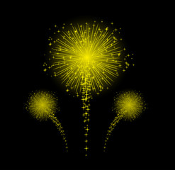Firework for happy new year design