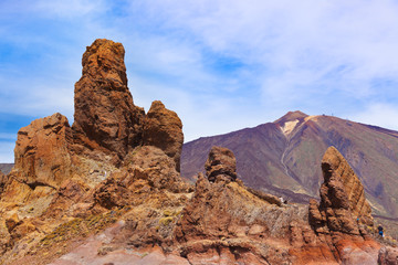 Rock at volcano Teide in Tenerife island - Canary