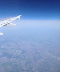 Бухарест, вид из окна самолета