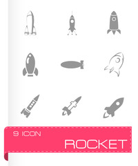 Vector rocket icon set