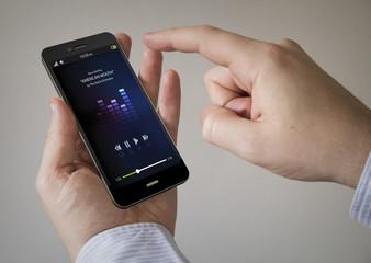 music touchscreen smartphone