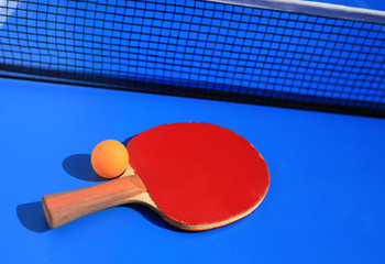 Table tennis equipment racket, ball and net