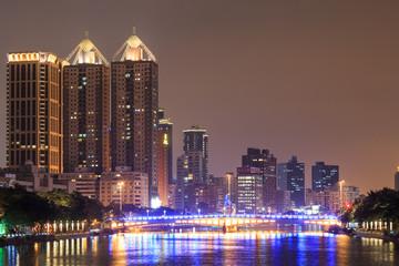 Love River at night, Kahosiung city - Taiwan