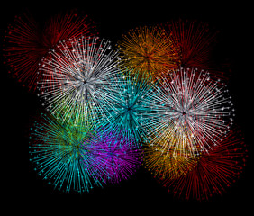 fireworks colorful  background