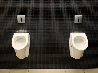 Men toilet for men, pissoir on wall