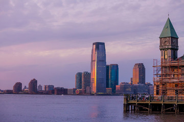 View of Hudson River and the Jersey City.