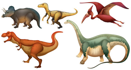 A group of dinosaurs