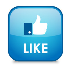 LIKE Web Button (thumbs up recommend comment vote share send)
