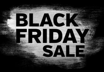 Black friday sale brushed banner
