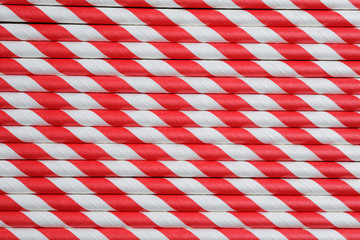 bright red paper straw background