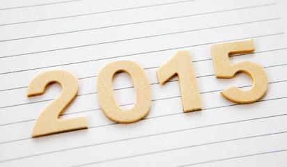 2015 en chiffres sur papier ligné