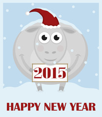 2015. Happy New Year. Greeting card
