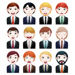 businessman avatar set