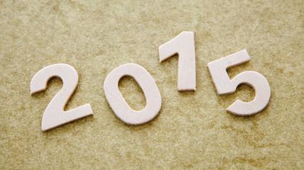 2015 sur papier texture