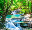 Cool waterfall in deep forest - 73875670