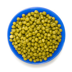 Isolated image of bowl with peas