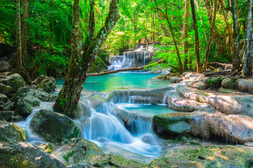 Beautiful waterfall in Thailand jungle