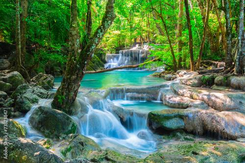 Beautiful waterfall in Thailand jungle © calcassa