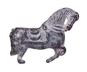 Metal figure of a horse