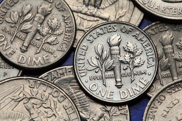 Coins of USA. US dime