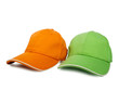 Two baseball caps