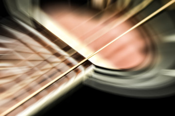 motion blur acoustic guitar abstract