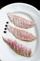ocean perch fillet with fresh herbs and spices
