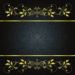 sfondo nero oro