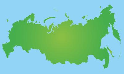 Russland in Grün