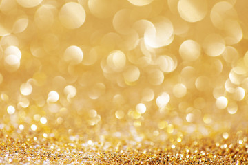 Abstract golden shiny christmas background