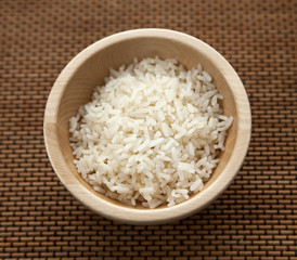bol de riz blanc
