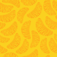 Tangerine segments seamless background.