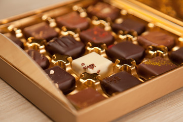 Golden Box of Fine Belgian Chocolates